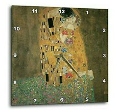 The Kiss by Gustave Klimt wall clock. High gloss mirror like Uv coated scratch.
