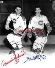 Maurice and Henri Richard  Montreal Canadiens autographed 8x10 photo RP