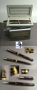 Parker Premier Set fountain pen and ballpoint brown laquered with golddust  #