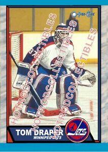 1989-90 OPC O Pee Chee Custom Tom Draper Winnipeg Jets NHL #478