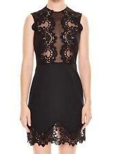 New Sandro Paris JaneGenie Floral Lace Black Dress Small / US 2 4 6  / SIZE 1
