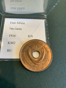 East Africa 10 Cents 1936 Unc