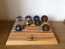 Parachute Regiment Engraved Challenge Coin Display Stand