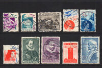 Netherlands 10 Stamps c1931-33 Used (8240)