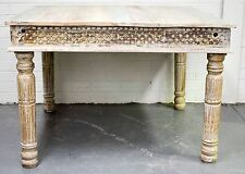 Shabby Chic Recycled Timber Distressed French Country Four Seater Dining Table