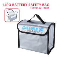 Anti-Explosion Lipo Battery Safe Bag 215x155x115 Fit RC FPV Drone Storage Box UK