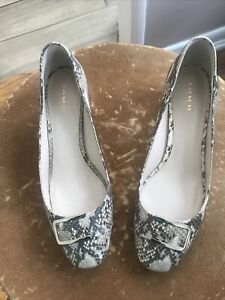COACH Brown & Tan Animal Print Leather Shoes Sz 11