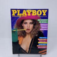 Playboy Magazine November 1985 Women of Mensa