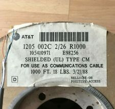 50' ~ Shielded UL Type CM 2/26 Wire ~ AT&T Old New Stock  3/21/88 ~ BL/W & O/W