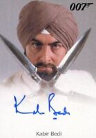 James Bond Heroes & Villains Kabir Bedi as Gobinda Autograph Card