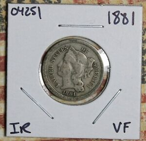 1881 THREE CENT NICKEL COLLECTOR COIN FREE SHIPPING