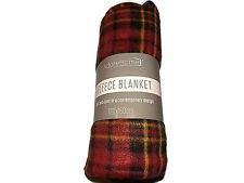Contemporary Design Fleece Throw Travel Car Blanket 120x150cm(Check BrownTartan)
