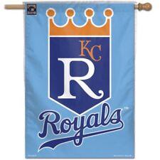 """KANSAS CITY ROYALS """"KCR"""" 28""""X40"""" BANNER FLAG BRAND NEW WINCRAFT 👀⚾"""