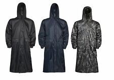Mens Waterproof Hooded Lightweight Long Outdoor Rain Coat
