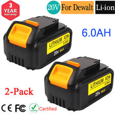 2 Pack For DEWALT DCB206-2 20V MAX 6.0Ah Lithium-Ion Battery DCB205-2 DCB204-2