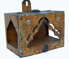 Ancien Petit Temple Metal 18x11x13cm Piece Originale Artisanat Inde