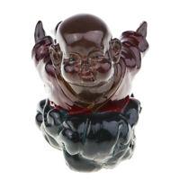Brown Resin Monk Figur Klassische chinesische Fengshui Energie Geschenk für