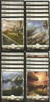 20X PLAINS FULL ART  basic land- Battle for Zendikar - MTG Magic the Gathering