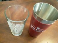 Solerno Blood Orange Liqueur promotional steel Shaker cup + tumbler glass Set