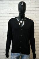 Maglione Cardigan Nero Uomo RALPH LAUREN Taglia XL Pullover Lana Sweater Man