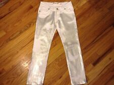 Waggon Paris White Sequin Stretch Women's Designer Jeans Sz 29 NWOT
