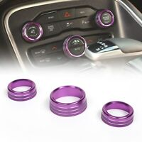 3PCS Air Condition&Audio Switch Knob Trim Ring For RAM 12-17 / Charger 15+PUR A5