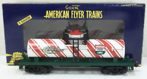 American Flyer 6-48424 S Scale Candy Cane Single Dome Tank Car NIB