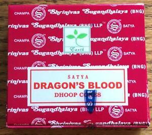 Satya's Dragon's Blood Cone Incense, Package of 10 Dhoop Cones!