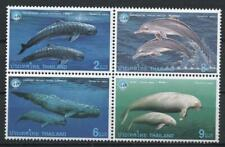 [TH] Thailand 1998 Marine life Whales and Dolphins Set of MNH Block.