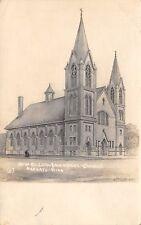 Mankato MN~New Evangelical Lutheran Immanuel Church~Architect Drawing~c1912 RPPC