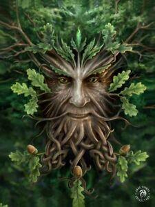 ANNE STOKES ART OAK KING GREEN MAN - 3D FANTASY PICTURE PRINT LARGE 300 x 400mm