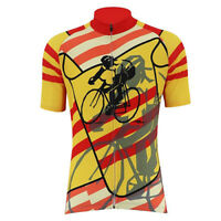 RED YELLOW VIETNAM RETRO Cycling BIKE Jersey Tricot Maillot