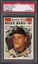 1961 Roger Maris Topps All Star Baseball Card #576 Graded PSA 7 Near Mint (NM)