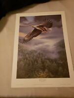 Spencer Williams Bound For Glory Special Limited Edition Print Bald Eagle Signed