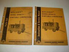 Gardner Denver SP900-D Rota-Screw Air Compressor Parts & Service Manuals