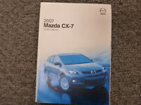 2007 Mazda CX-7 SUV Owner Owner's Manual User Guide Sport Grand Touring AWD 2.3L