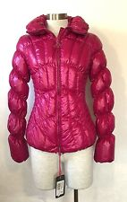 NEW with Tags FORNARINA ITALY Women's  Fuchsia Down Jacket Coat  $279 Size SMALL