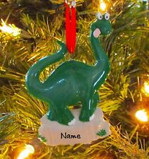 Dinosaur - First Christmas Ornament - Personalized Christmas Tree Ornament