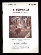 CATALOGUE VENTE BD ENCHERES  TINTINOMANIA N°4    18/02/1995  + résultats