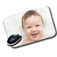 Rectangle Shape Personalised Soft Touch Mouse Pad Mat Gift Image Customised