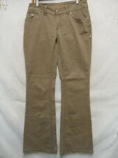 D3396 Hydraulic Green Brown Stretch Cool Jeans Women 32x33
