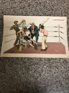 "Early 1900s Boxing Ring German Boxer Muscle Man "" Kampfpause"" African American"