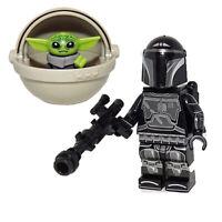Mandalorian & Baby Yoda Set - Mando Child Star Wars Custom Minifigures For Lego