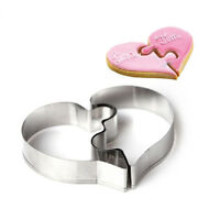 Stainless Cake Biscuit Pastry Cookies Cutter Baking Love Heart Mold Round