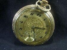 GRUEN VERITHIN Engraved pocket watch ANTIQUE VINTAGE EXC