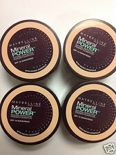 4 X TRAVEL SIZE Maybelline Mineral Power Foundation Powder CLASSIC IVORY NEW