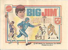 BIG JIM ALL STAR 1971. MINI COMIC GIVEAWAY PROMO MATTEL RARE PROMOTIONAL VFNM/NM