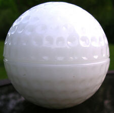 Anchor Hocking GOLF BALL hollow dish TRINKET BOX dimpled white milk glass GIFT!