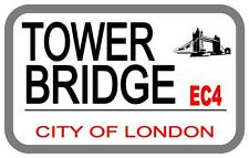 Tower Bridge London Street Metal Sign