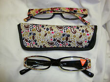 Reading Glasses - Little Paisley Brown & Black - 2.00 (0/)